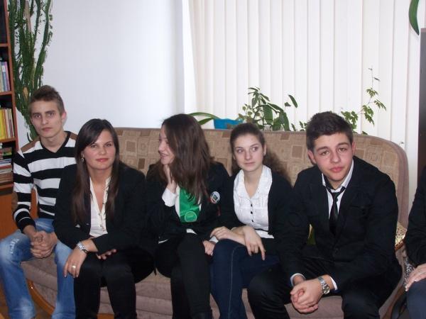 Elevi din Turceni la N-SAT TV